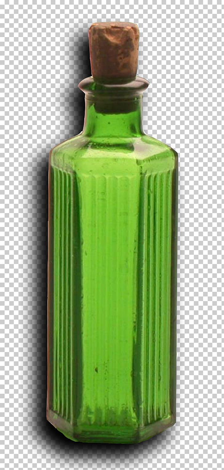 Botella de vidrio veneno de la época victoriana, botella.