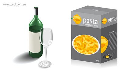 Free Botellas de vidrio y envases de alimentoss Clipart and.
