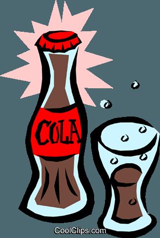Cola botella de vidrio libres de derechos ilustraciones de.
