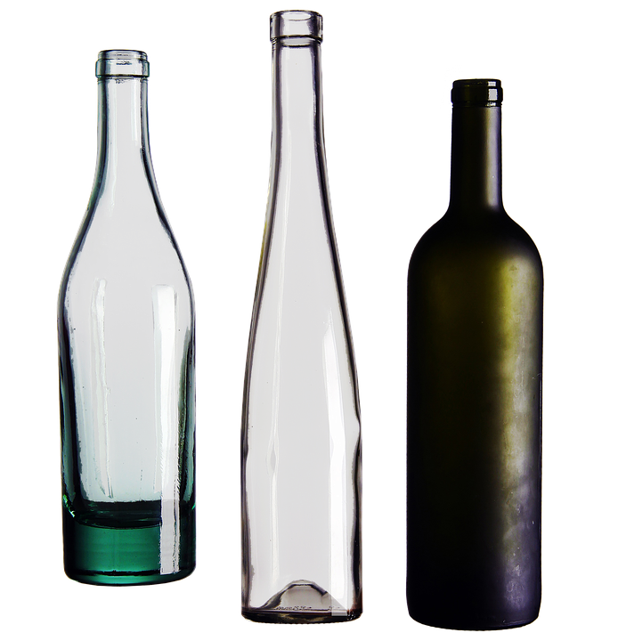 Botellas Vidrio Png Vector, Clipart, PSD.