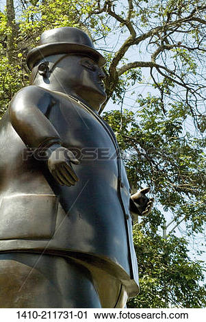 Stock Photography of Botero Sculpture 1410.