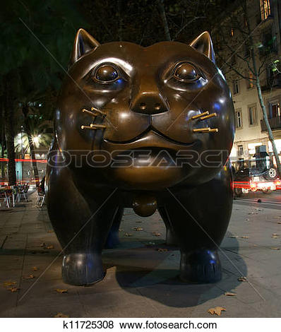 Pictures of Botero cat, the Colombian artist Fernando Botero on.