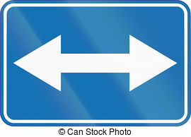 Belgian additional road sign both directions Illustrations and.