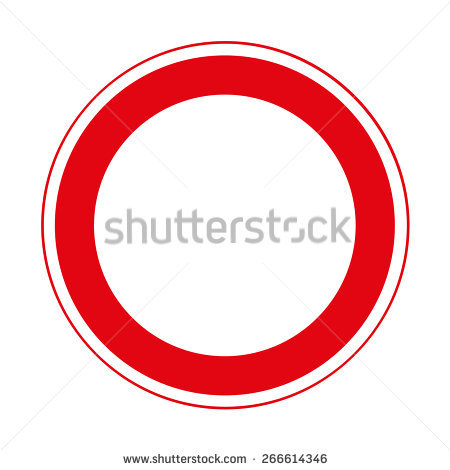 Road Sign Prohibitory Sign Road Closed Stock Vector 266614346.