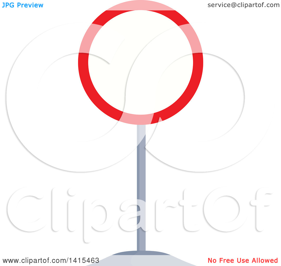 Clipart of a Closed to All Vehicles in Both Directions Traffic.