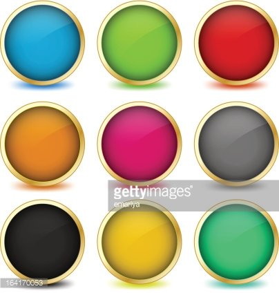 Set of Web Buttons With Golden Vector Eps10 premium clipart.