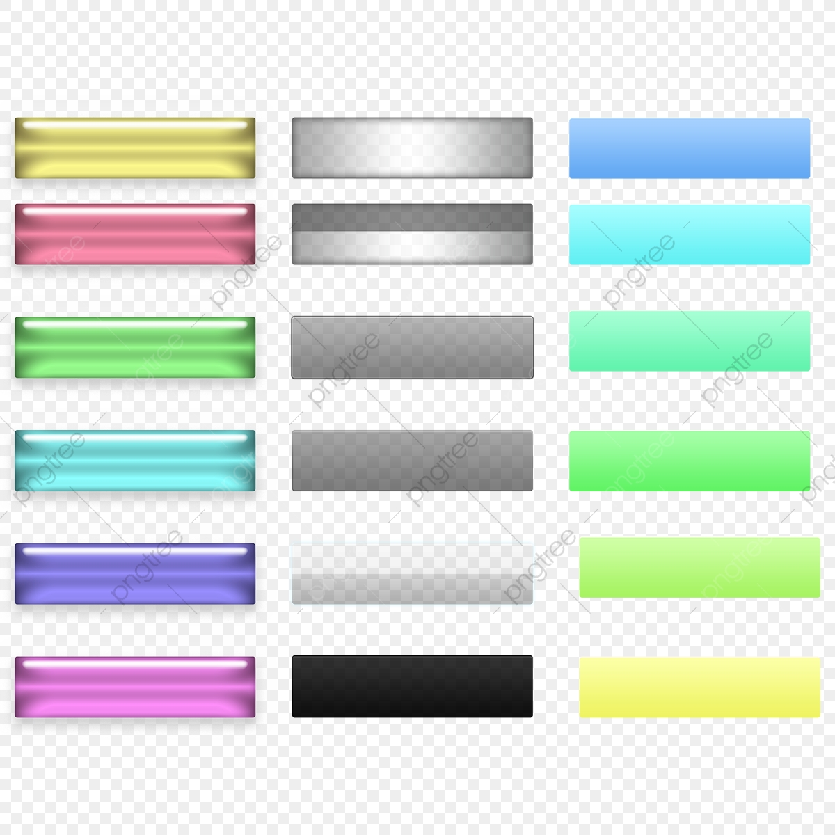 Botones Web 18 Muestras, Web, Color, Color Archivo PNG y PSD para.