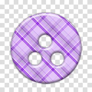 Botones, purple and pink plaid button transparent background.