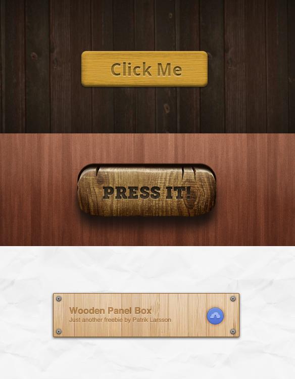 Iconos, fondos y botones de Madera gratis para tu web.
