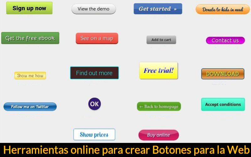 3 páginas para crear botones para la web online y gratis.