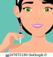 Botox Treatment Clip Art.