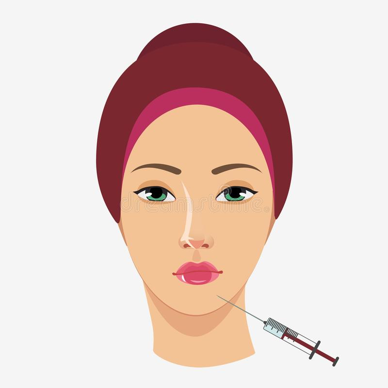 Botox Injections Stock Illustrations.