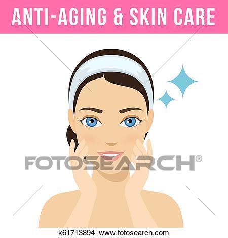 Cosmetic procedures botox Clipart.