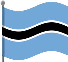 Botswana Flag Waving Clip Art Download.