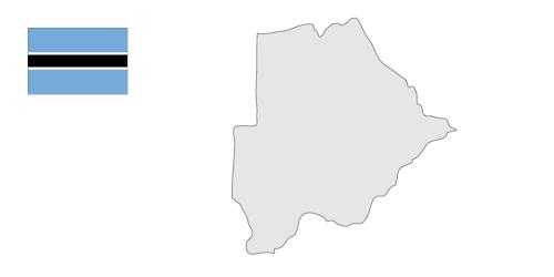 Botswana Map Clipart.