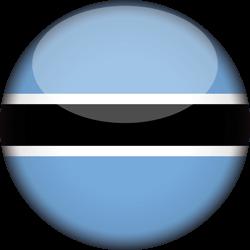 Botswana flag clipart.