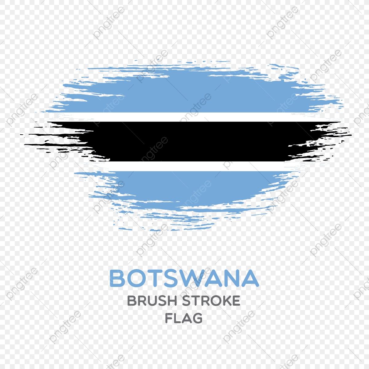 Botswana Brush Stroke Flag, Brush Stroke Flags, Country Flag.