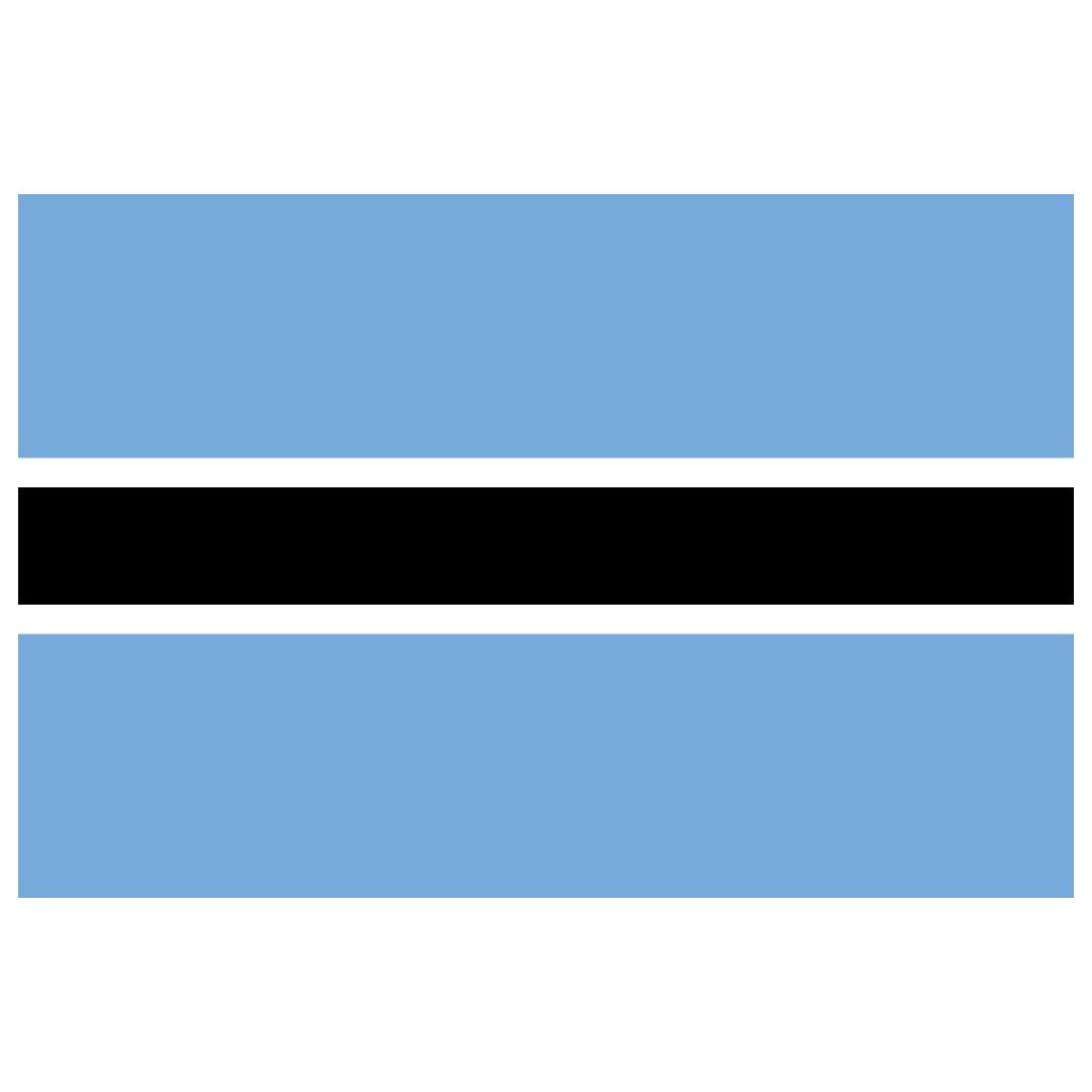 BW Botswana Flag Icon.
