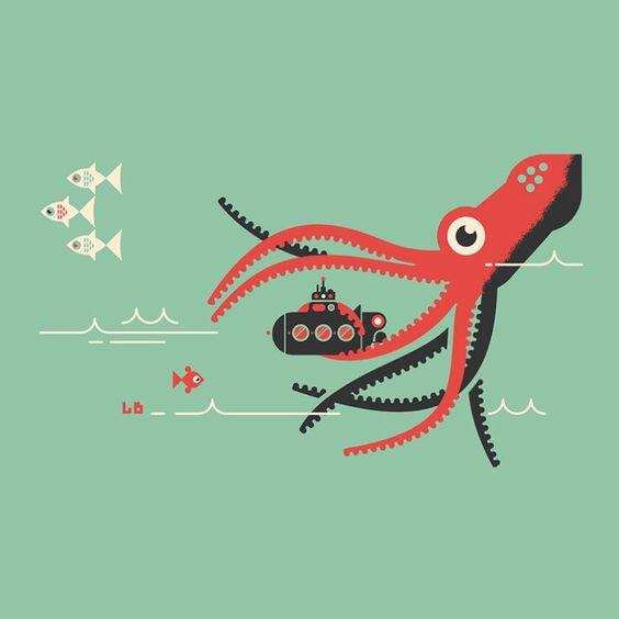 Submarine. Another great illustration from Luke. — via Luke Bott.