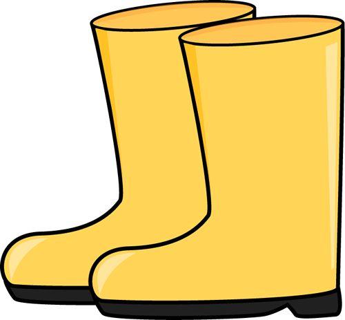 Yellow Rain Boots Puddle.