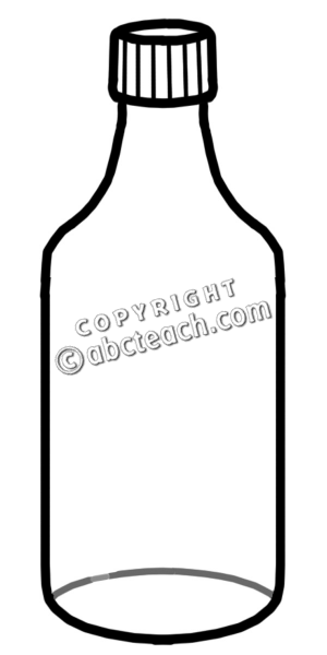 water bottle clipart black and white - Clipground