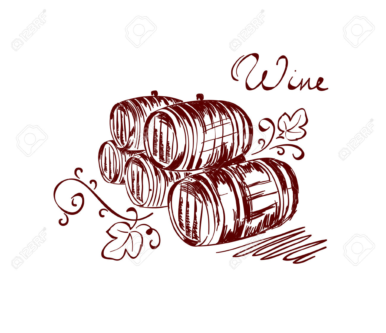 Wine Barrels Royalty Free Cliparts, Vectors, And Stock.