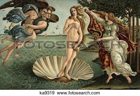 Stock Photograph of 1400S 1486 Painting Sandro Botticelli The.