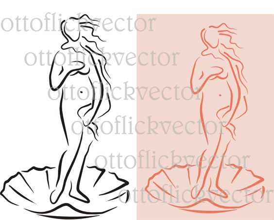 BIRTH OF VENUS vector clipart, digita file eps, cdr, ai, png, jpg.
