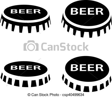 beer bottle cap black symbol.