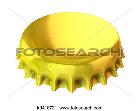 Clipart of golden bottle cap k9418731.