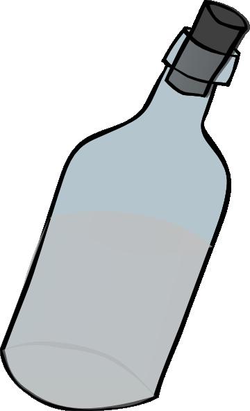 Glass Bottle Black And White Clip Art at Clker.com.