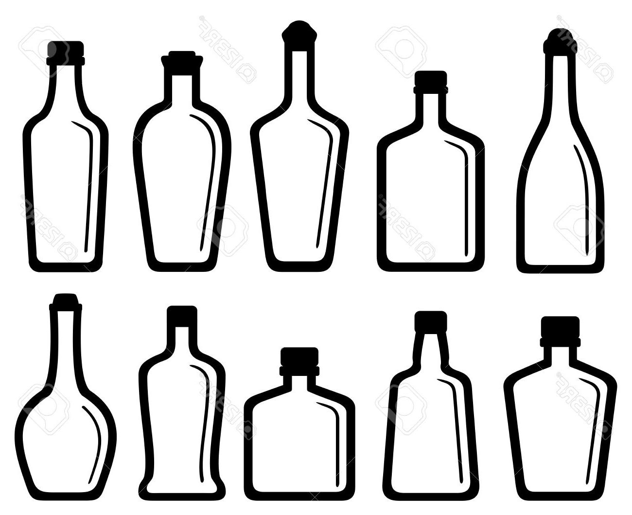 Bottle clipart black and white 4 » Clipart Station.