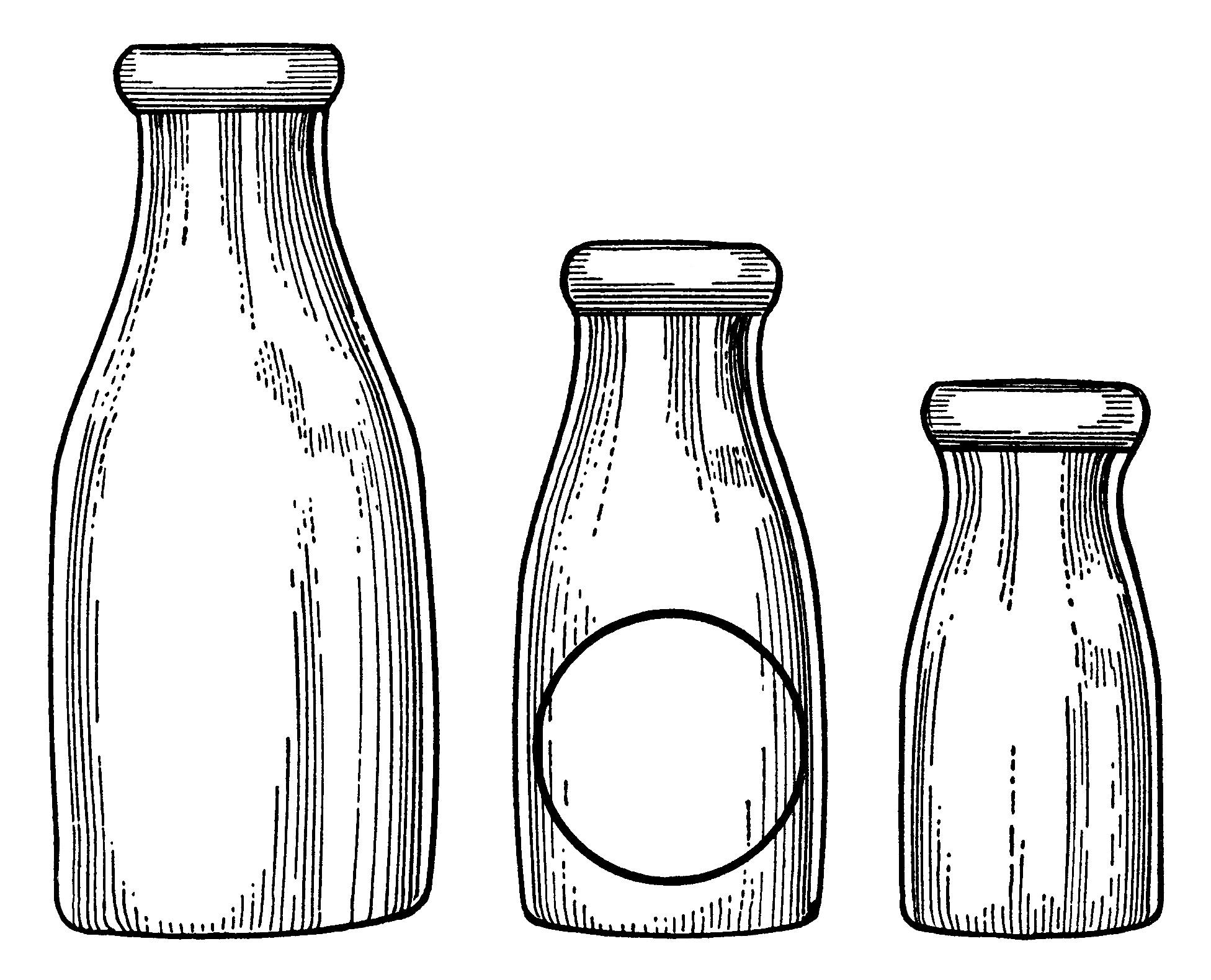 Milk Bottles Clip Art.