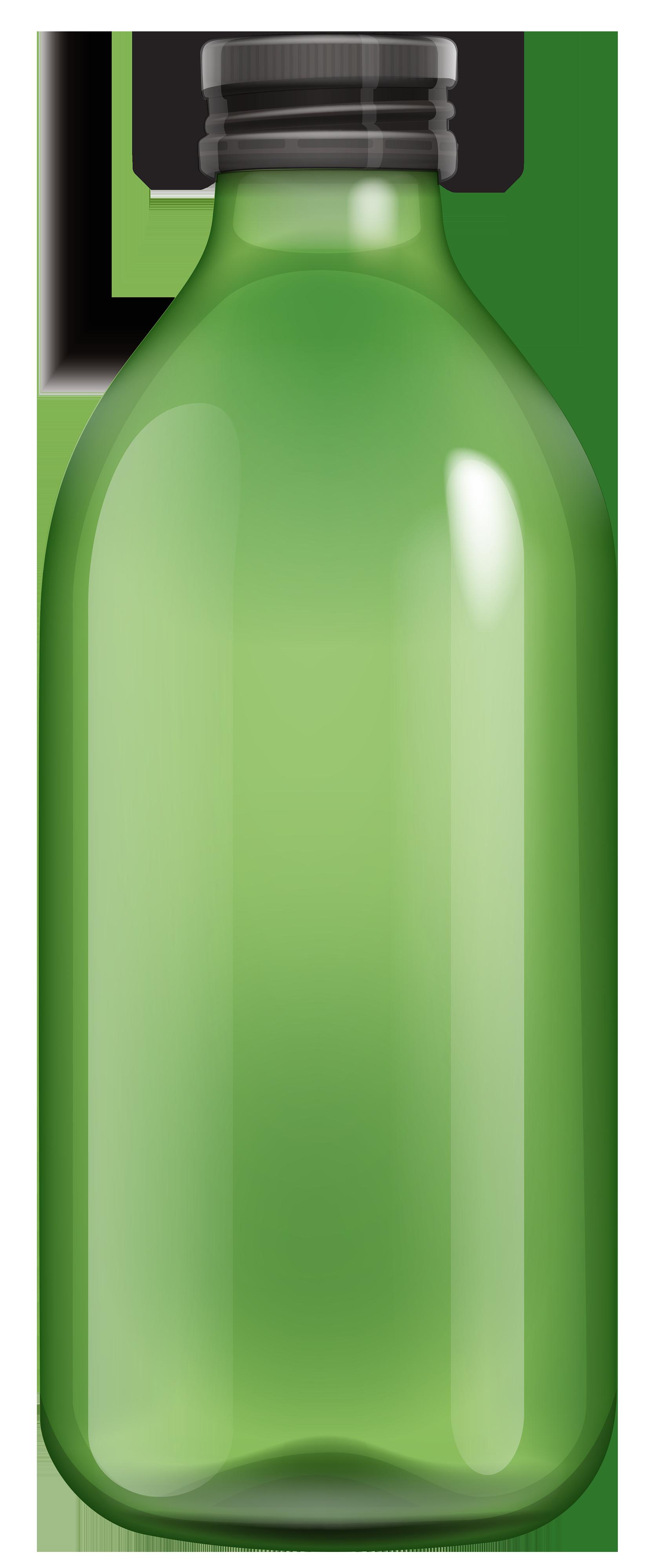 Green Bottle PNG Clipart.
