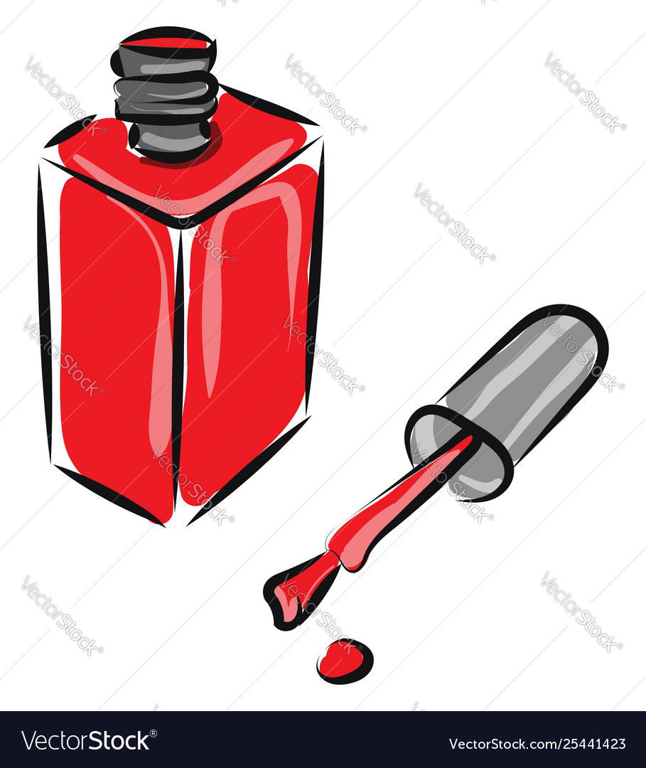 Clipart red manicure bottle with cap left.