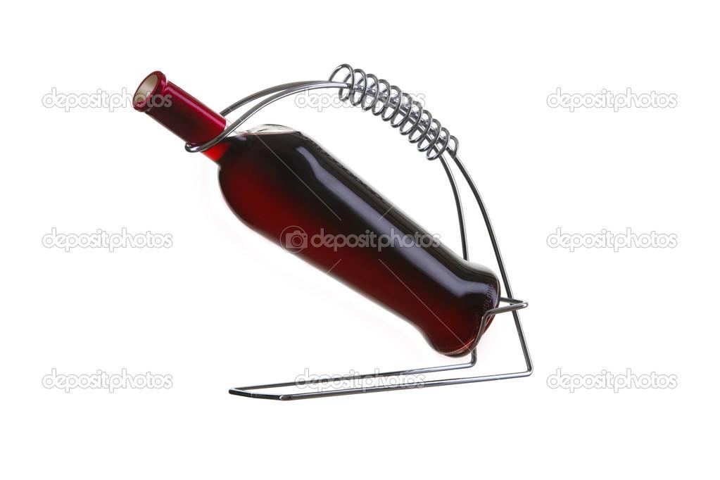 Wine bottle holder — Stock Photo © DenisMArt #2759374.