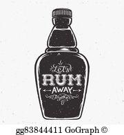 Rum Bottle Clip Art.