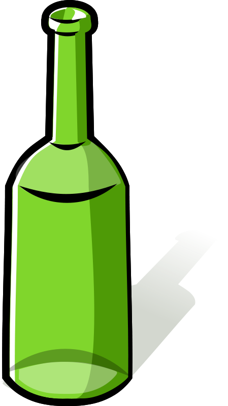 Free Clipart: Green bottle.