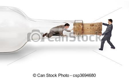 Stock Photography of bottleneck.