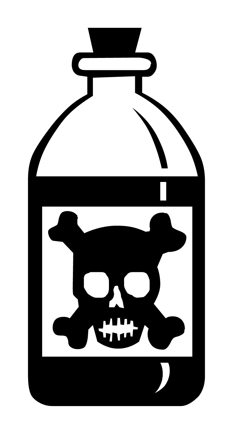 bottle of poison clipart - Clipground