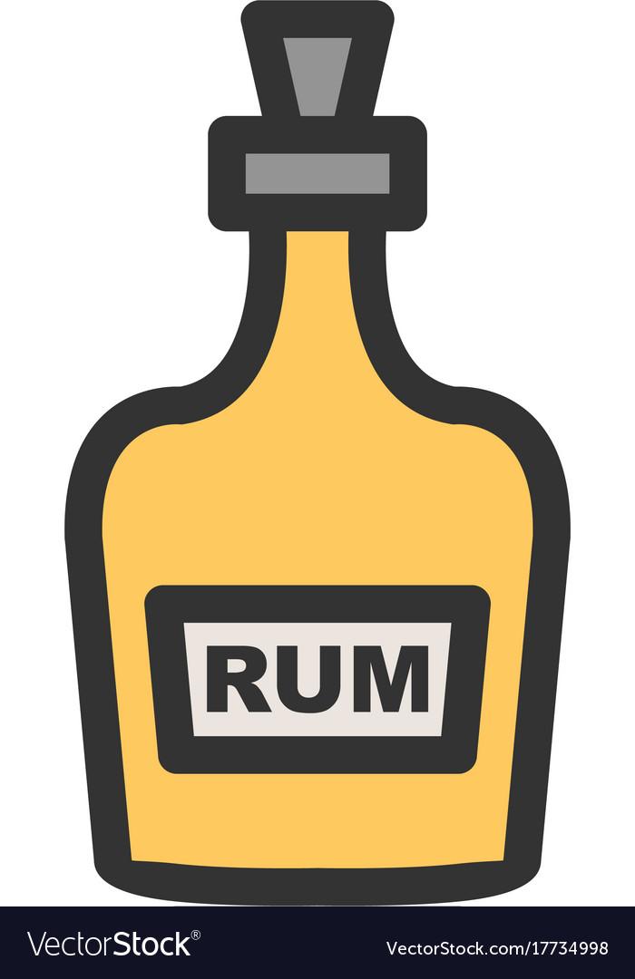 Bottle of rum.