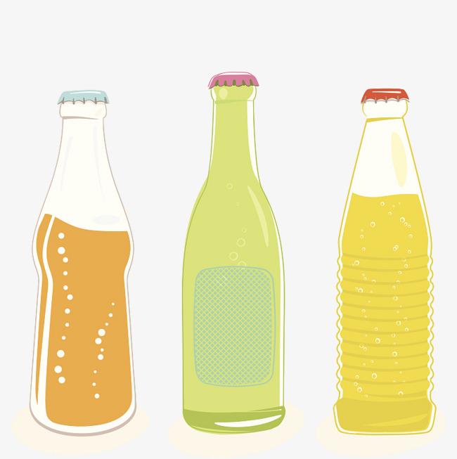 Three Bottles Of Bottled Soda, Soda Clip #92993.