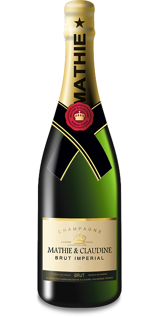 Free vector graphic: Champagne, Sparkling Wine, Bottle.