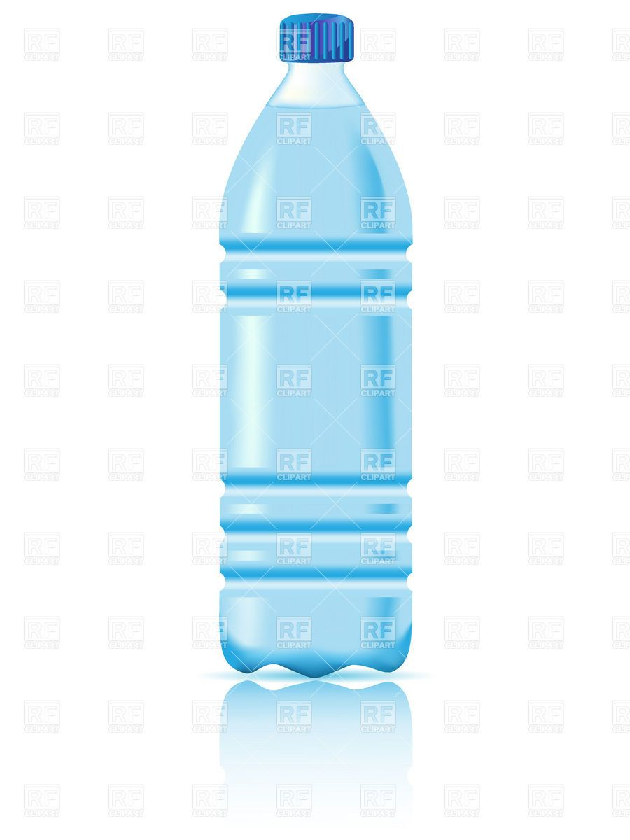 plastic water bottle clip art.