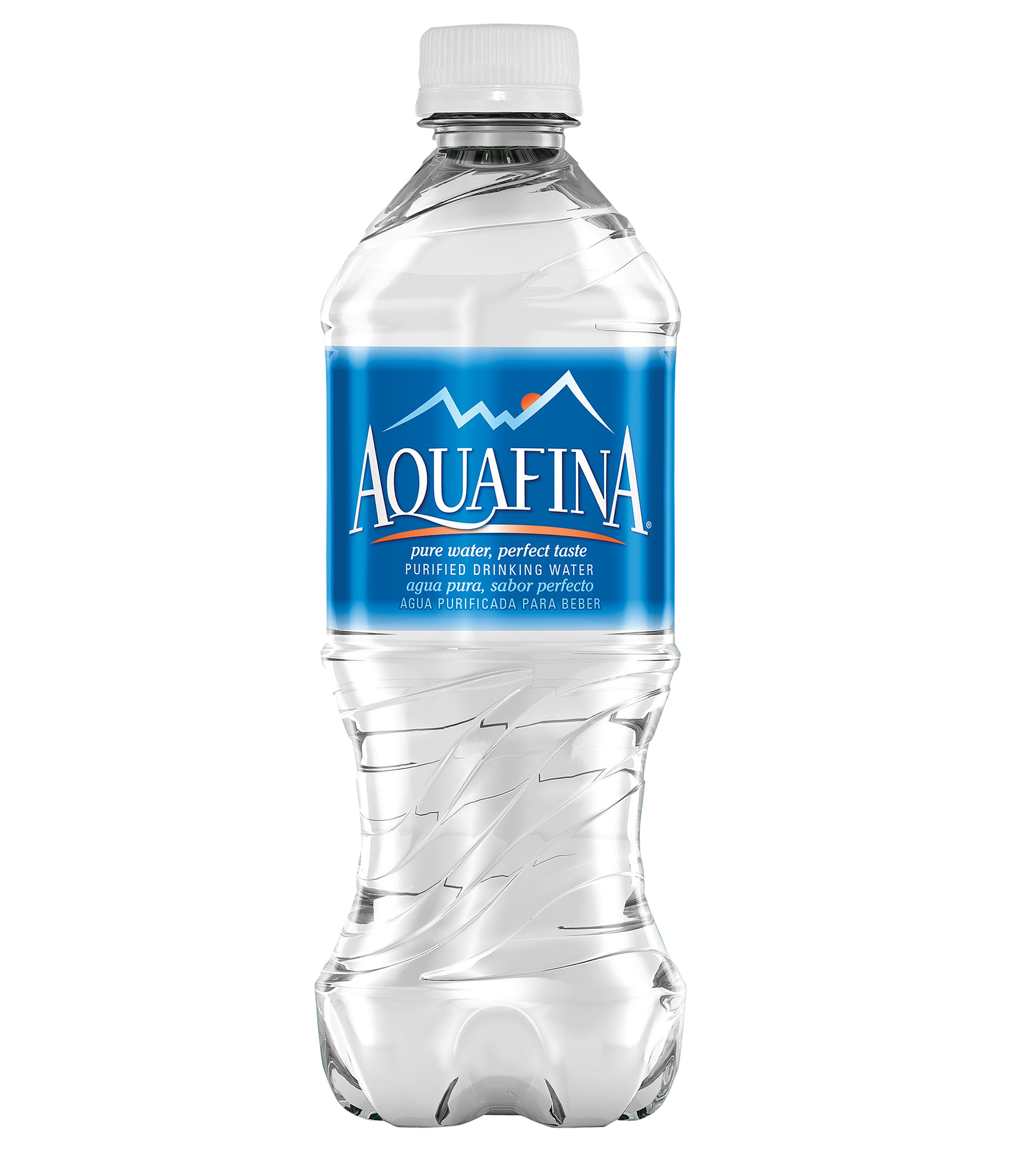 Ice Water Bottle Aquafina PNG Image.
