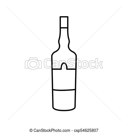 Alcohol bottle icon.