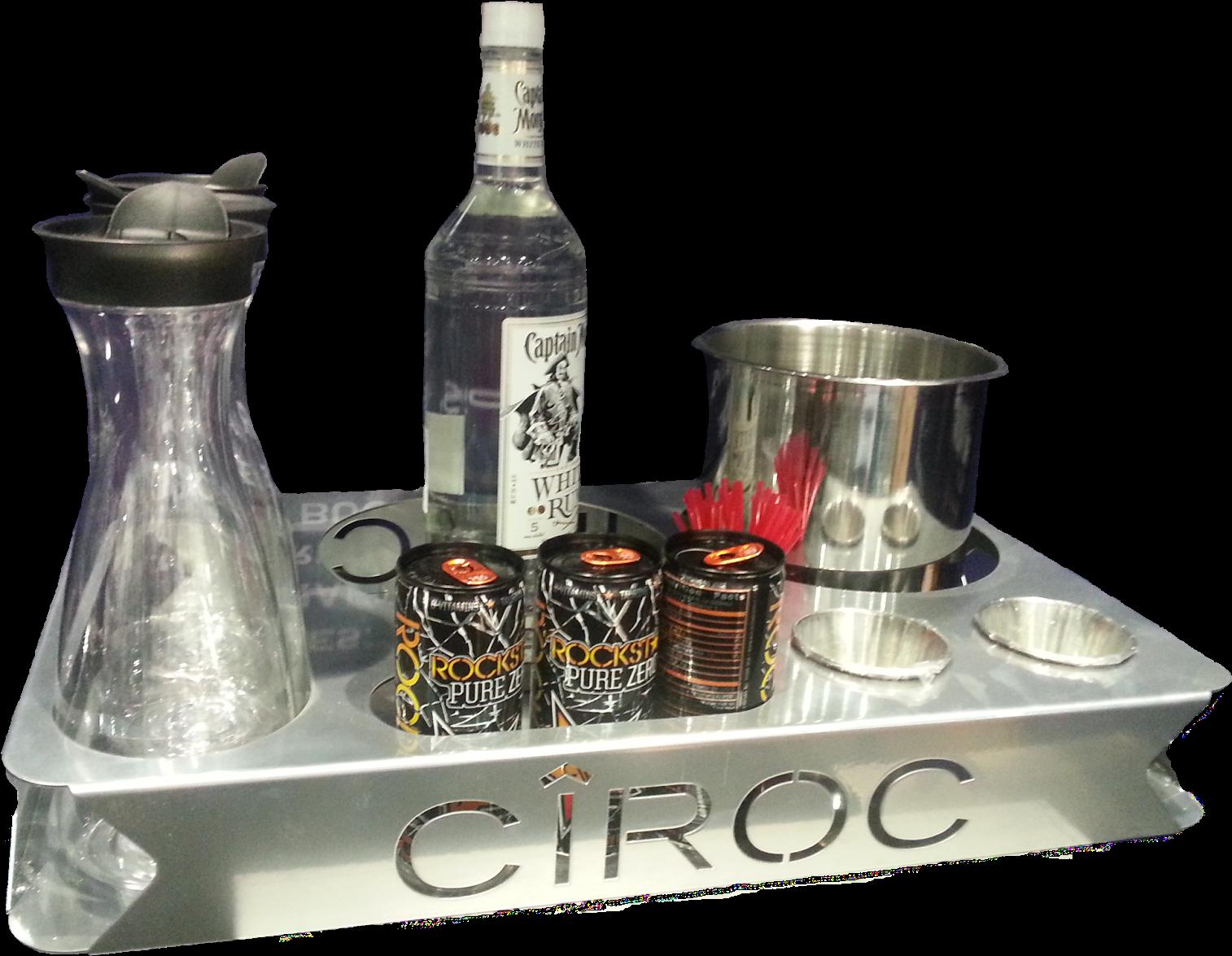 HD Energy 5 Bottle Service Tray Nightclubshop.