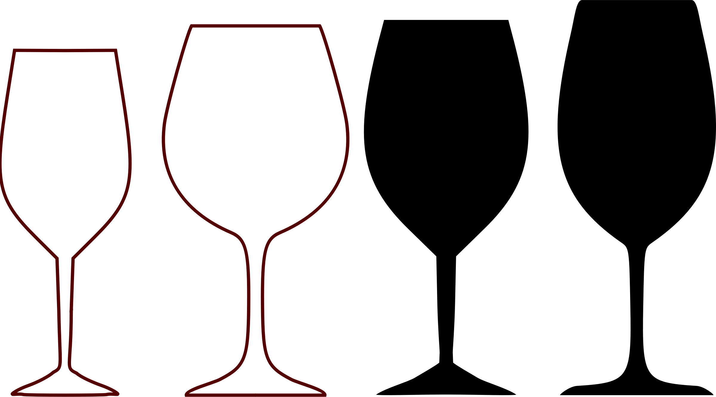 wine glass shapes by @qpad, wine glass shapes and silhouettes., on.