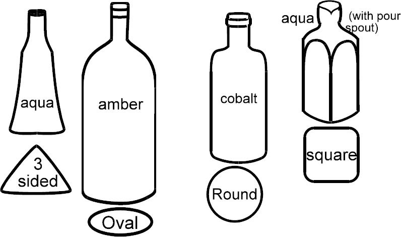 Custom made bottles.
