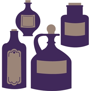 67 Potion Bottle free clipart.